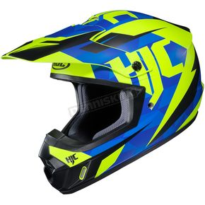 HJC Semi-Flat Blue/Green CS-MX II Dakota MC-2SF Helmet - 328-726