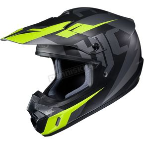 HJC Semi-Flat Black/Gray/Green CS-MX II Dakota MC-5SF Helmet - 328-755