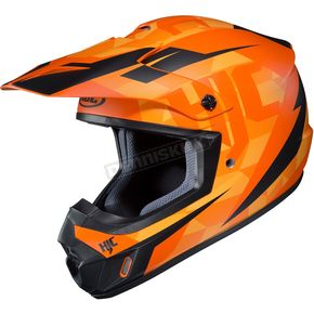 HJC Semi-Flat Orange/Black CS-MX II Dakota MC-7SF Helmet - 328-773