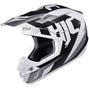 HJC Black/White CS-MX II Dakota MC-10 Helmet - 328-901