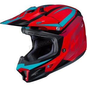 HJC Red/Blue CL-X7 Bator MC-1 Helmet - 756-915