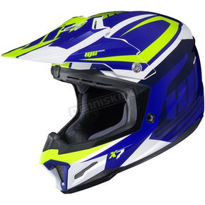 HJC Blue/Green/White CL-X7 Bator MC-2 Helmet - 756-926