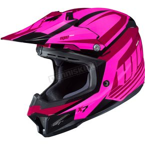HJC Pink/Red CL-X7 Bator MC-8 Helmet - 756-981