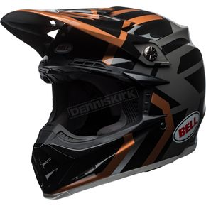 Bell Helmets Copper/Black/Charcoal Moto-9 MIPS District Helmet - 7091765