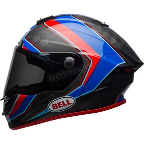 Bell Helmets Red/Blue/Matte Carbon Pro Star Sector Helmet - 7091885