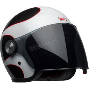 Bell Helmets White/Black/Red Riot Boost Helmet - 7092636