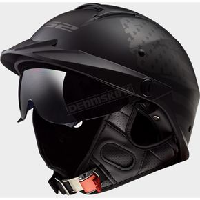 Matte Black Rebellion 1812 Helmet