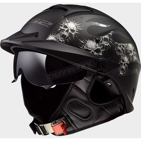 Matte Black Rebellion Bones Helmet