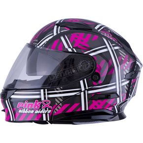 Black/Pink/White MD01 Pink Ribbon Riders Modular Helmet