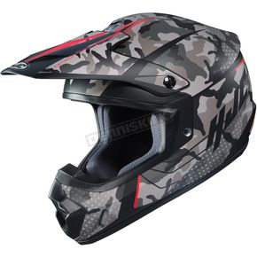 Semi-Flat Gray/Black/Red CS-MX 2 Sapir MC-1SF Helmet - 334-714