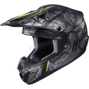 Hi-vis Semi-Flat Gray/Black/Green CS-MX 2 Sapir MC-3HSF Helmet - 334-735
