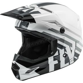 White/Black/Gray Kinetic Thrive Helmet