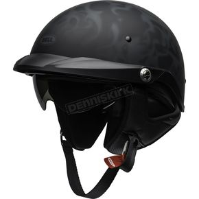 Matte Black/Gray Pit Boss Flames Helmet