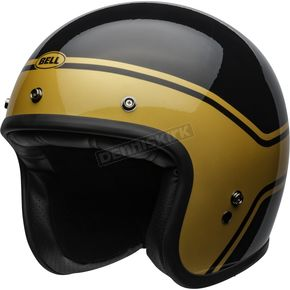 Black/Gold Custom 500 Streak Helmet