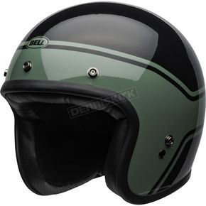 Black/Green Custom 500 Streak Helmet