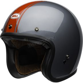 Gray/Red Custom Rally Helmet