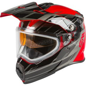 Red/Black/Silver AT21S Epic Helmet w/Dual Lens Shield