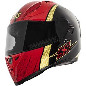 Black/Gold/Red SS2100 Heretic Helmet