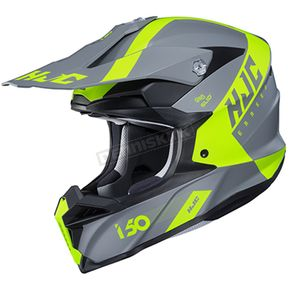 Semi-Flat Gray/Hi-Viz/Black i50 Erased MC-3HSF Helmet