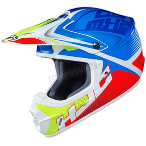 Blue/Red/White/Green CS-MX 2 Ellusion MC-23 Helmet