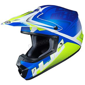 Semi-Flat Blue/Green/White CS-MX 2 Ellusion MC-2SF Helmet