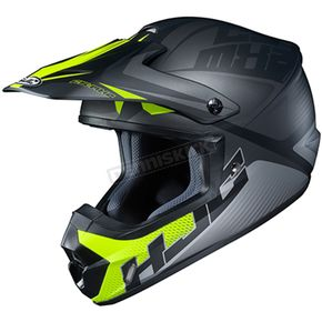 Semi-Flat Black/Gray/Green CS-MX 2 Ellusion MC-5SF Helmet