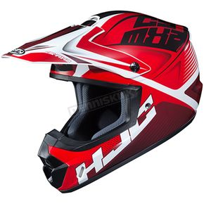 Red/Black/White CS-MX 2 Ellusion MC-1 Helmet