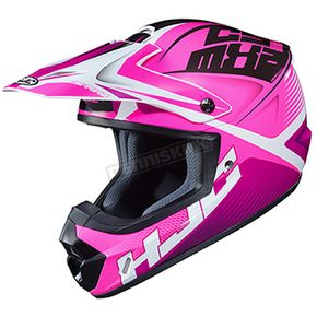Pink/White/Black CS-MX 2 Ellusion MC-8 Helmet