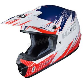 Semi-Flat Red/White/Blue CS-MX 2 Krypt MC-21SF Helmet