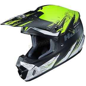 Semi-Flat Hi-Viz/Black/White CS-MX 2 Krypt MC-3HSF Helmet