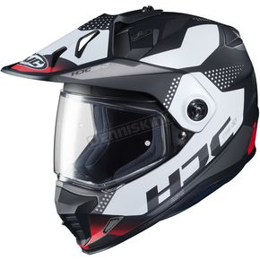 Semi-Flat Black/White/Red DS-X1 Tactic MC-1SF Helmet