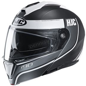 Semi-Flat White/Gray/Black i90 Davan MC-10SF Helmet