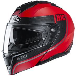 Semi-Flat Red/Black i90 Davan MC-1SF Helmet