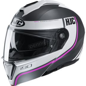 Semi-Flat White/Black/Pink i90 Davan MC-8SF Helmet