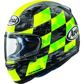 Matte Fluorescent Yellow Frost Regent-X Patch Helmet