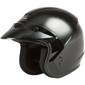 Youth Black OF-2 Open Face Helmet