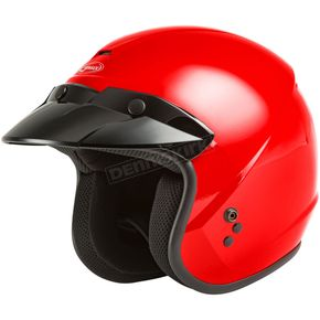 Youth Red OF-2 Open Face Helmet