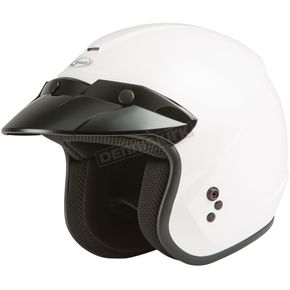 White OF-2 Open Face Helmet - 72-5365L