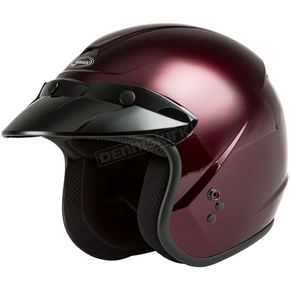 Youth Wine Red OF-2 Open Face Helmet