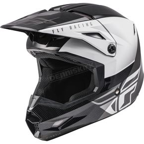 Black/White Kinetic Straight Edge Helmet