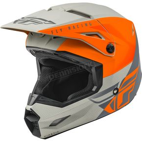Matte Orange/Gray Kinetic Straight Edge Helmet