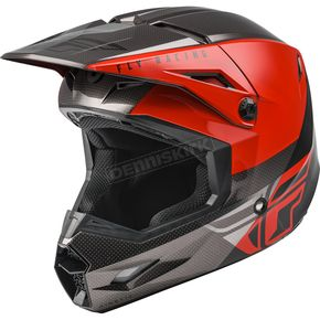 Red/Black/Gray Kinetic Straight Edge Helmet