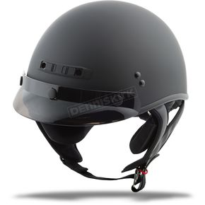 Matte Black GM35 Full Dressed Half Helmet