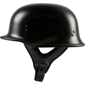 Gloss Black 9MM German Beanie Helmet - 77-1000L