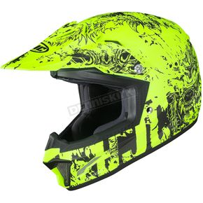 Youth Semi-Flat Hi-Viz/Charcoal CL-XY II Creeper MC3HSF Helmet