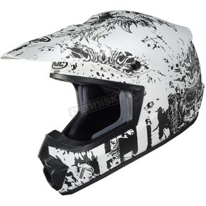 Semi-Flat White/Charcoal CS-MX 2 Creeper MC10SF Helmet