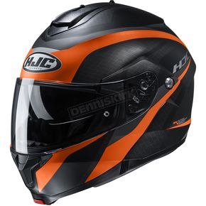 Semi-Flat Black/Orange C91 Taly MC7SF Modular Helmet