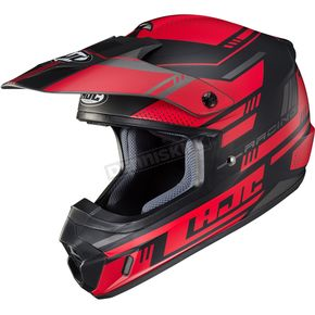 Semi-Flat Red/Black CS-MX 2 Trax MC1SF Helmet - 342-714