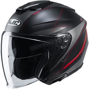 Semi-Flat Black/Gray/Red i30 Slight MC1SF Helmet