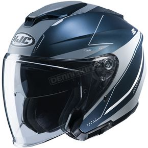 Semi-Flat Blue/Silver i30 Slight MC2SF Helmet
